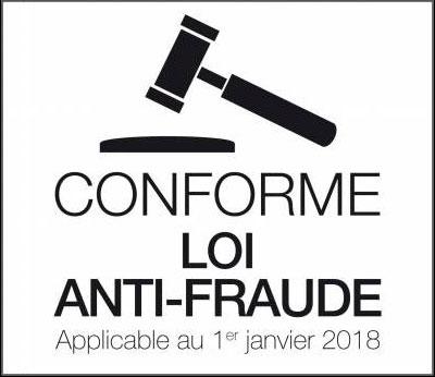 Conforme loi anti fraude dès janvier 2018